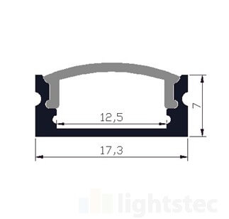 LT-1205 Led Aluminum Profiles Extrusions for led strip light - Lightstec