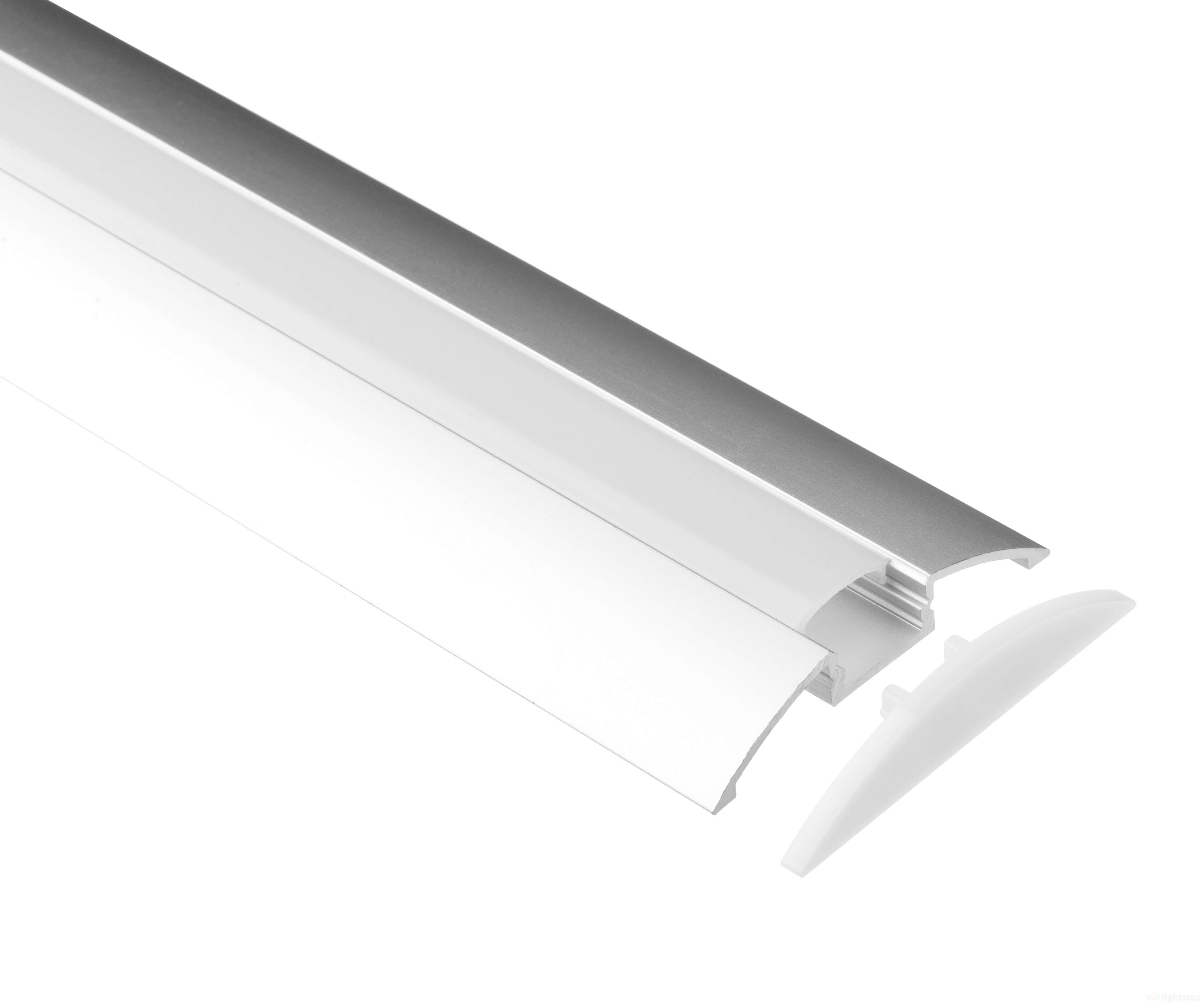 LT-1206 Step Led Aluminum Profiles Extrusion for led strip light - Lightstec