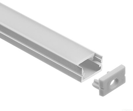 LT-1208 Flat surface mount Led Aluminum Profiles Extrusions - Lightstec
