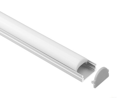 LT-1302 Led Aluminum Profiles Extrusions flat with lens- Lightstec