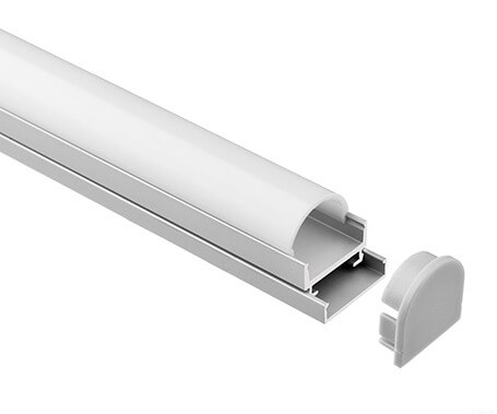 LT-1601 Led Aluminum Profiles Extrusions with round cover - Lightstec