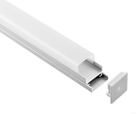 LT-1602 Led Aluminum Profiles Extrusions with square diffuser - Lightstec
