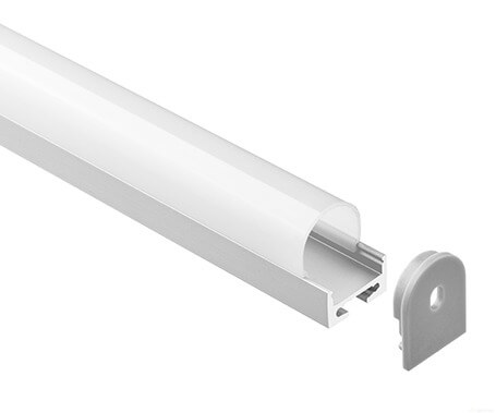 LT-1603 Led Aluminum Profiles Extrusions with round diffuser - Lightstec