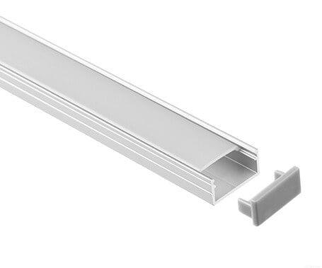LT-1606 Led Aluminum Profiles for led strip light with flat cover- Lightstec