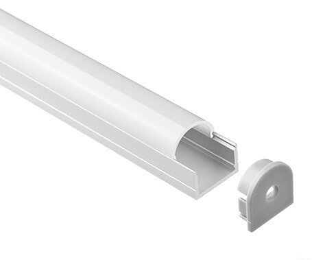 T-1608 Led Aluminum Profiles Extrusions with round cover - Lightstec