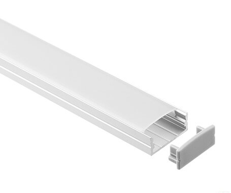 T-2002 Led Aluminum Profiles Extrusions with diffuser factory - Lightstec