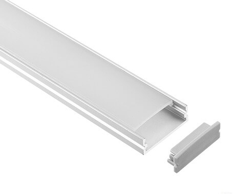 LT-2005 Flat Led Aluminum Profiles Extrusions with cover - Lightstec