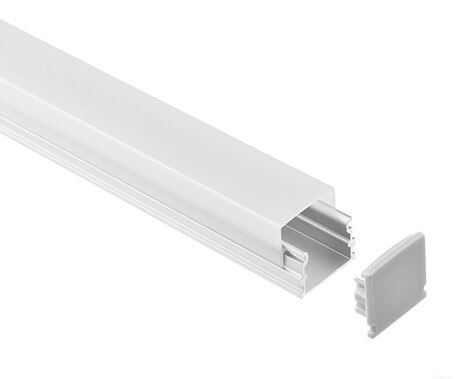 LT-2121 Led Aluminum profile extrusion with high square diffuser- Lightstec