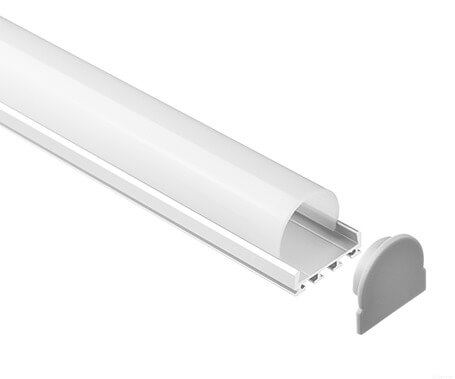 LT-2401 Led Aluminum Profiles Extrusions with round cover- Lightstec