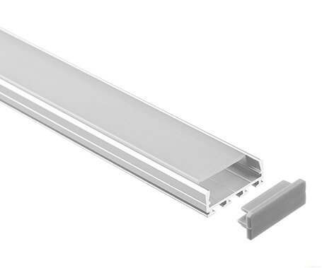 LT-2405 Flat Led Aluminum Profiles Extrusions for led strip light- Lightstec