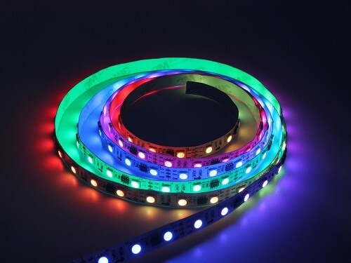 Magic color led strip light 30led/m dc12v,color changing strip CE - Lightstec