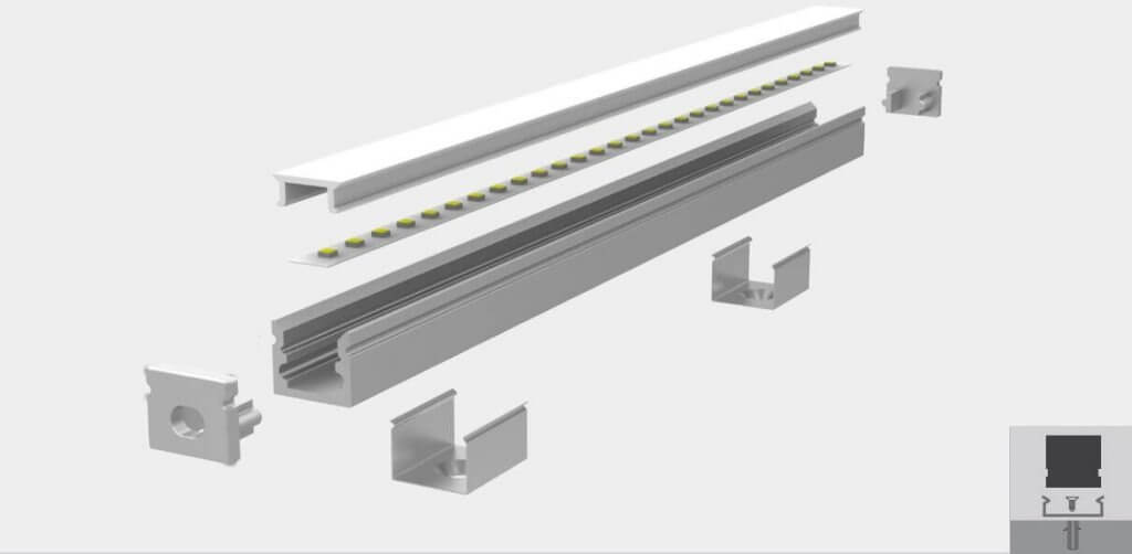 SURFACE MOUNT LED PROFILE