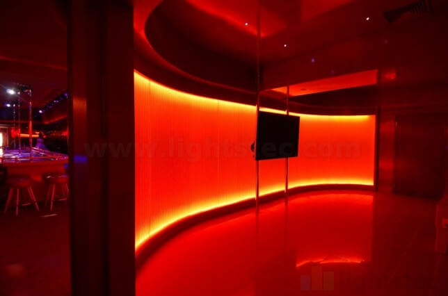 lightstec lighting wall with led strip light