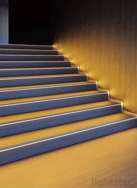 Lighting Basement Washroom Stairs: Led Strip Light Using In Home Design,kitchen Lighting
