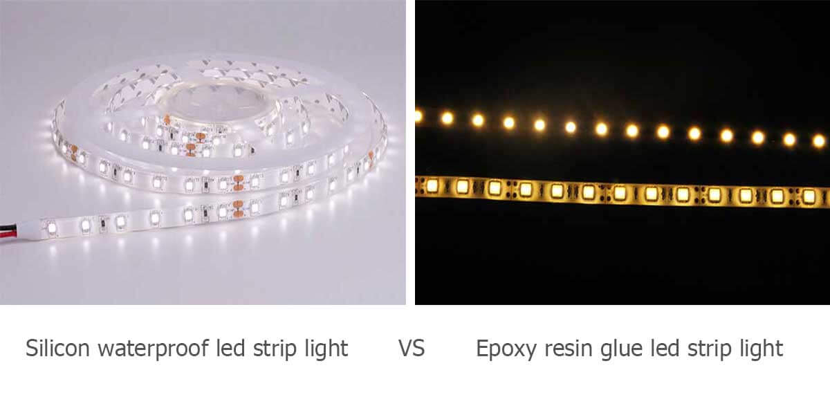 silicon-waterproof-led-strip-light-vs-epoxy-resin-glue-led-strip-light