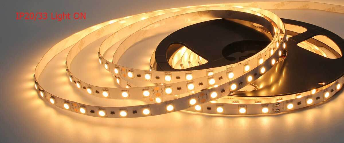 IP20-IP33-not-waterproof--led-strip-light--5050-light-on