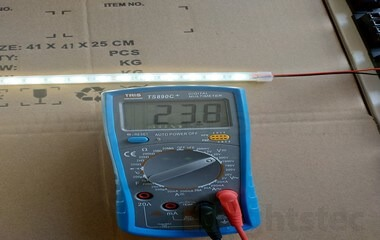 led strip light voltage drop 24v test (1)
