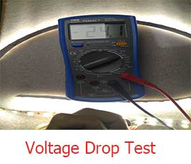 led-strip-light-voltage-drop-test-Lightstec.com