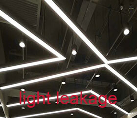 How to deal with the light leakage of led linear light