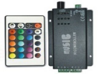 5+ Music led RGB controller,DC12V,Bluetooth music RGB controller-Lightstec