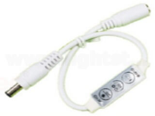 Mini 3 key single color controller with DC connector LT-M-04