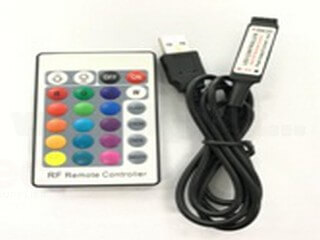 Mini RF 24 key RGB controller with USB connector LT-USB-24