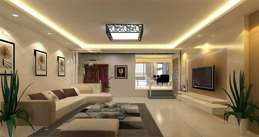 Led-strip-light-use-in-living-room-ceiling