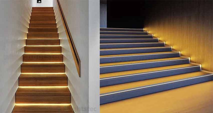 Lighting Basement Washroom Stairs: 21 Led Strip Light Ideas:How To Use Strip Light In