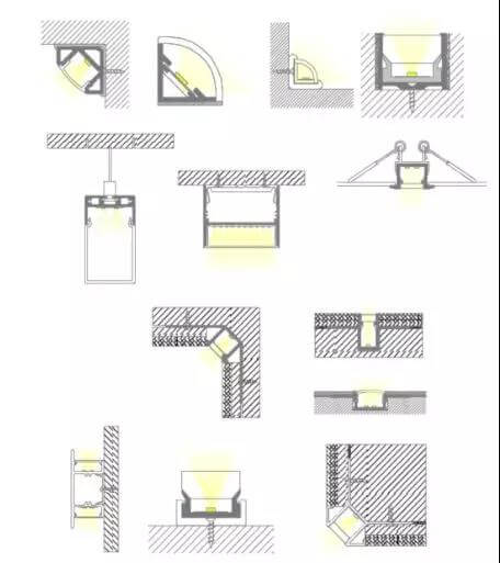 led linear light mounting methods