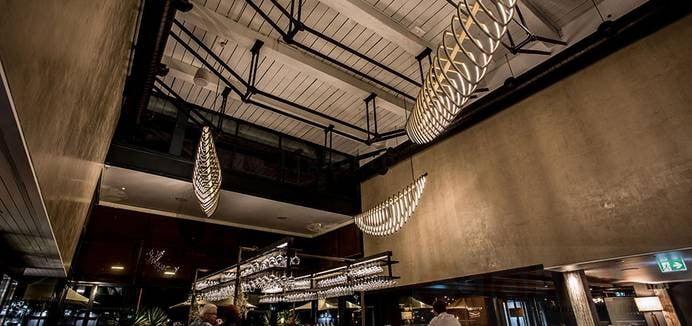 led linear light use in Restaurant lighting (1)