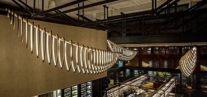 led linear light use in Restaurant lighting (2)