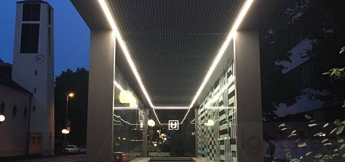 led linear light use in University (3)