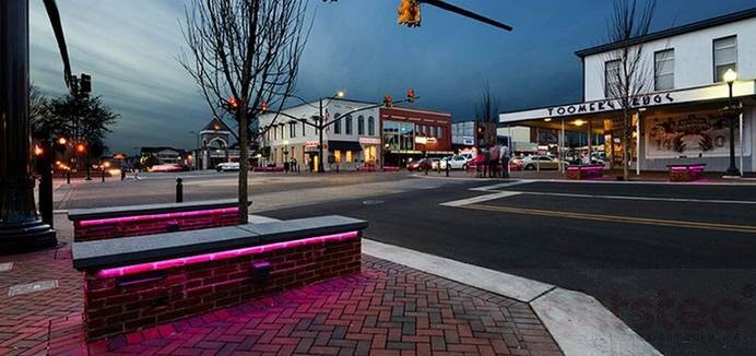 led linear light use in city park lighting (2)