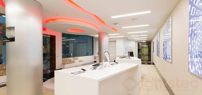 led linear light use in company ceiling lighting (2)