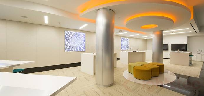 led linear light use in company ceiling lighting (4)