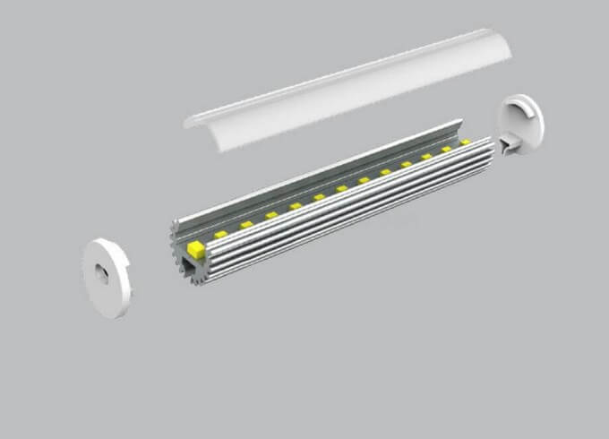 Round size led linear light fixture lightstec