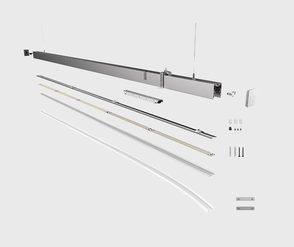 main structure of led linear light