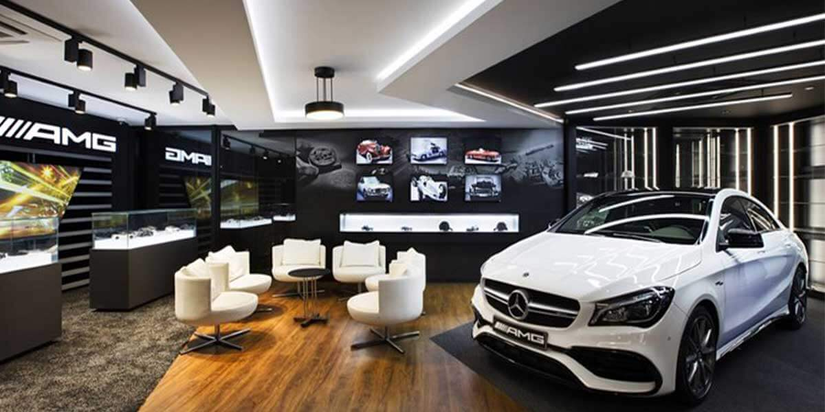 BENZ-SHOWROOM-LED-LINEAR-LIGHT