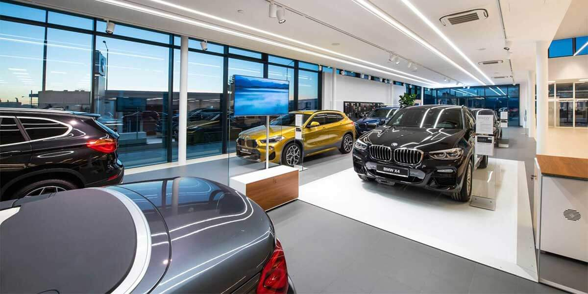 BMW-NEW-CAR-SHOWROOM-USE-LED-LINEAR-LIGHT