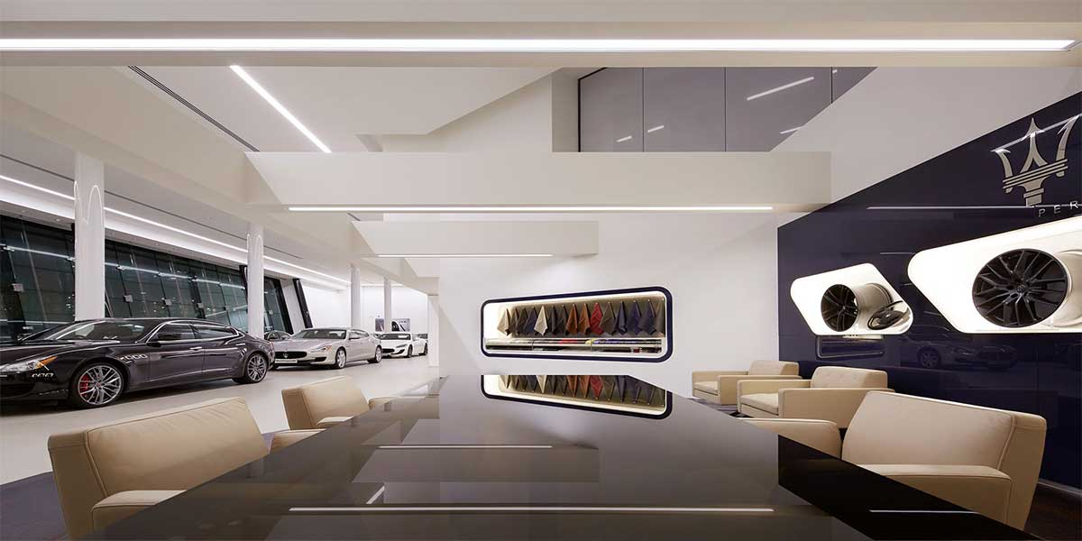 Maserati-showroom-led-aluminum-profile-light