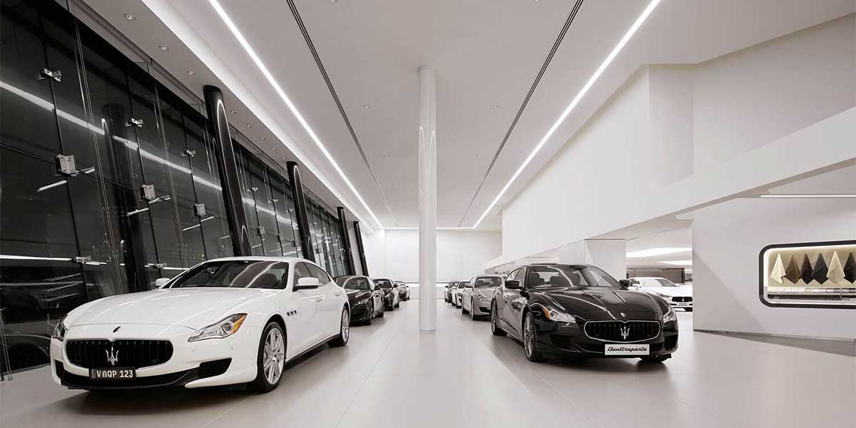 Maserati-showroom-led-linear-light