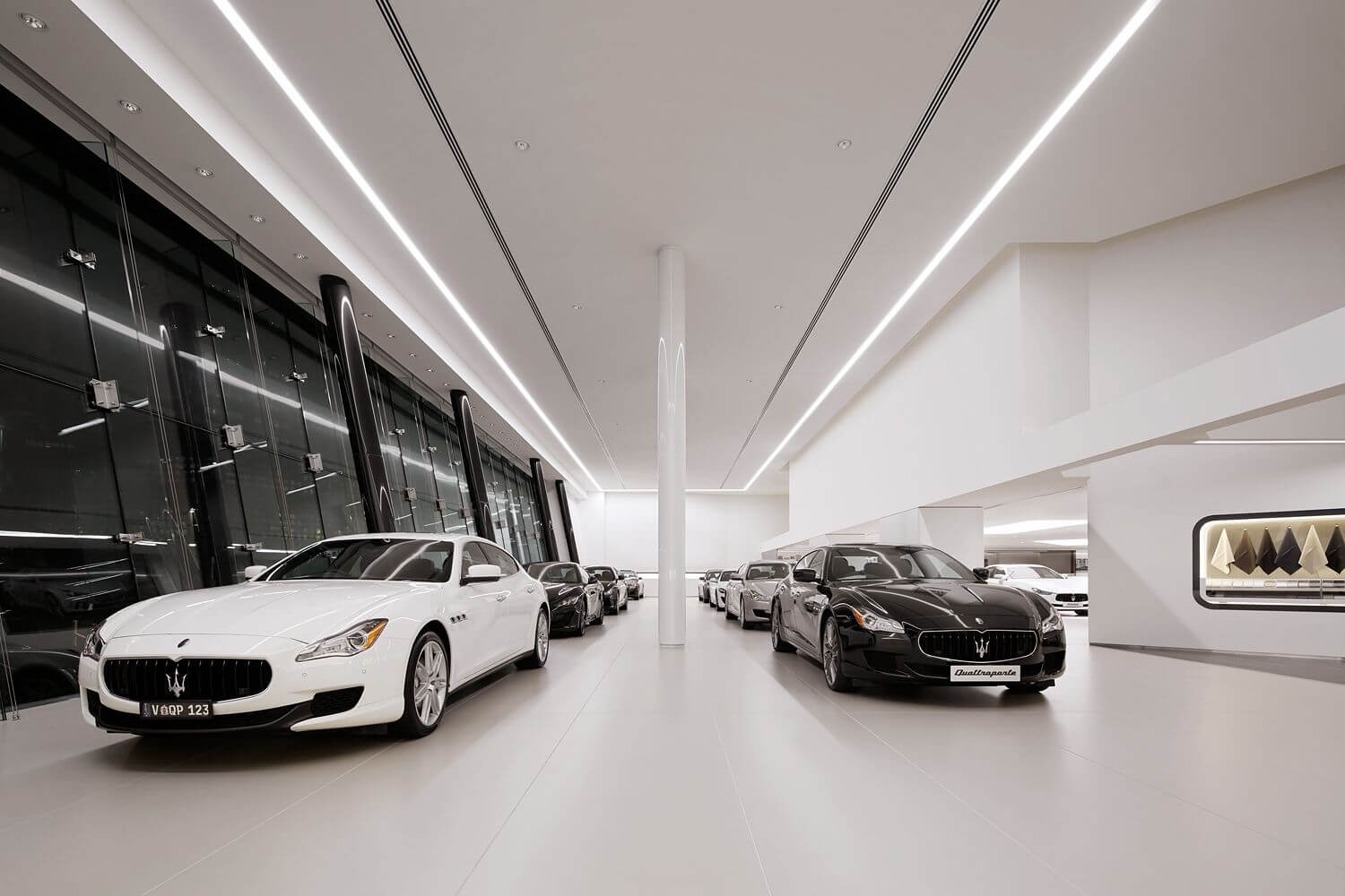 Maserati showroom led linear light