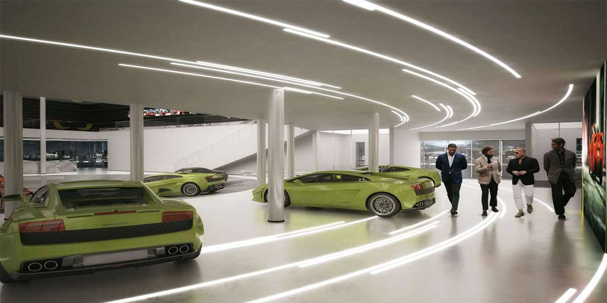 PORSCHE-SHOWROOM-LED-ALUMINUM-LIGHT