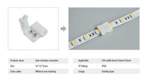 Solder-Free LED Strip Lights Connector