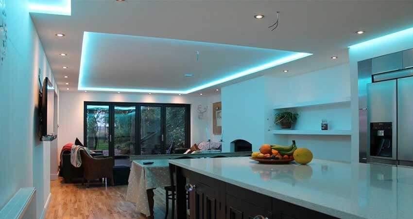 Ceiling Lightingusing led strip light