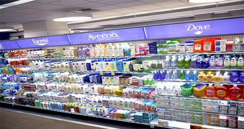 Commercial Shelf Lightingusing led light strip