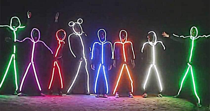 Halloween Costume Lightingusing led strip light