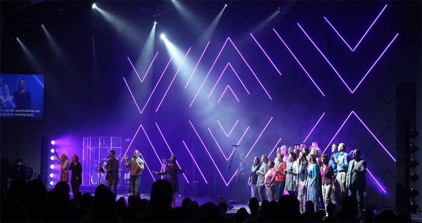 Stage Design Lightingusing led light ribbon