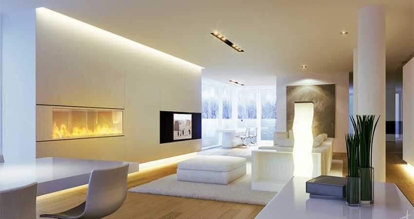 Wall-lighting-using-led-strip-light