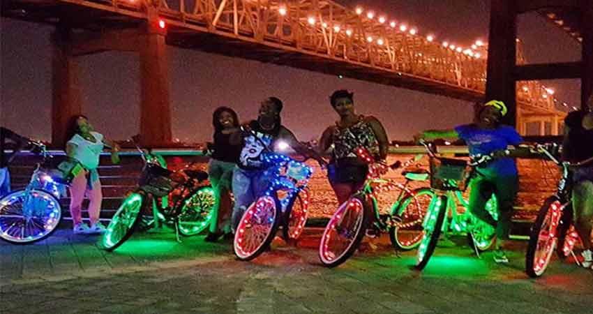 Bike design lightingusing led strip light